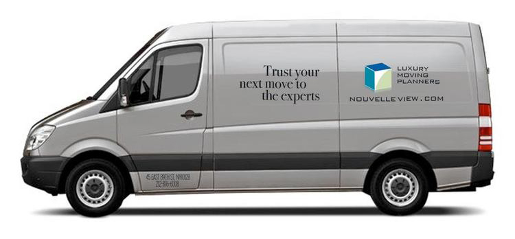 image of NouvelleView luxury moving company truck