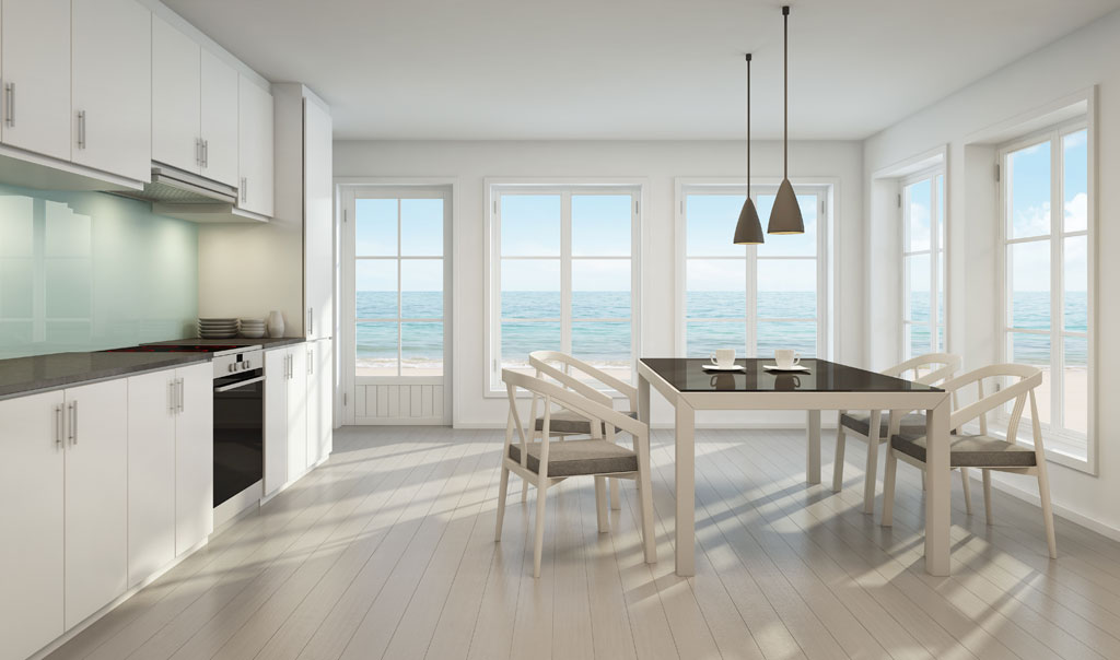image of interior white design, from Nouvelle View's NYC & Hamptons Rental Ready Package