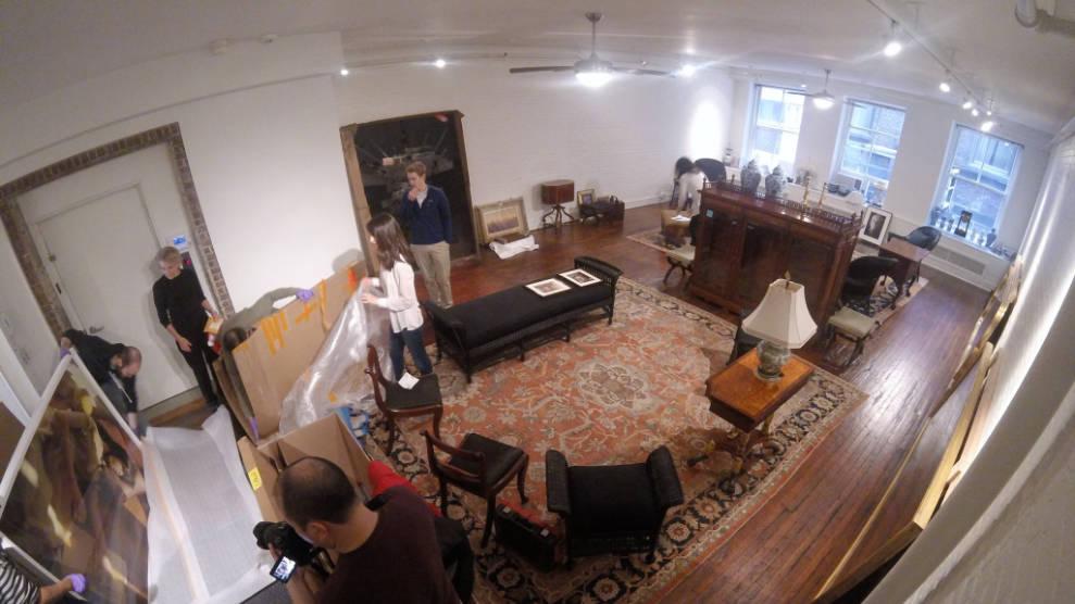 image of Soho fine arts move, NYC